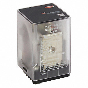 Plug In Relay, 11 Pins, Square Base Type, 10A @ 277VAC/30VDC Contact Rating, 12VDC Coil Volts