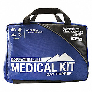 First Aid Kit, Kit, Nylon Case Material, Industrial, 2 People Served Per Kit
