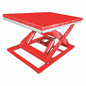 Stationary Electric Lift Scissor Lift Table, 4000 lb. Load Capacity, Lifting Height Max. 43""