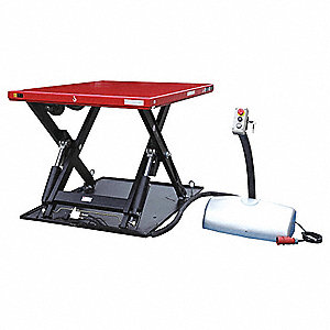 Stationary Electric Lift Scissor Lift Table, 4400 lb. Load Capacity, Lifting Height Max. 39-1/2""