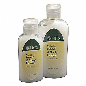Hand and Body Lotion, Unscented, 4 oz. Squeeze Bottle, 60 PK