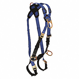 Premium Specialty Crossover Harness with 425 lb. Weight Capacity, Blue, XL/2XL