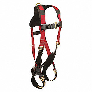Premium Comfort Full Body Harness with 425 lb. Weight Capacity, Red, XL/2XL