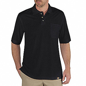 T-Shirt, Mens, M, 10-3/4 in. Sleeve L, Black