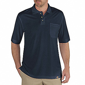 T-Shirt,Mens,S,10-3/4inSleeveL,Dark Navy