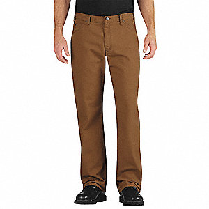 "Men's Jeans, 75% Cotton/25% Polyester, Color: Brown, Fits Waist Size: 36"" x 32"""
