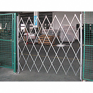 Folding Gate,Single,7 to 8ft Wx7-1/2ft H