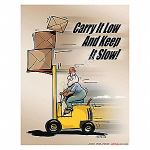 Safety Poster,Carry It Low And Keep,ENG