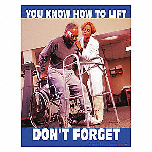 Safety Poster,You Know How To Lift,ENG