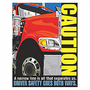 Safety Pstr,Caution. A Narrow Line Is,EN