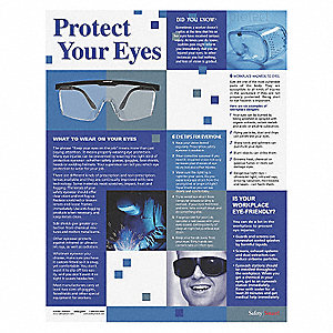 Safety Poster,Protect Your Eyes,ENG