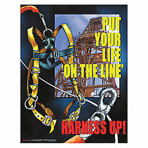 "Safety Poster, English, 17"" x 22"", 1 EA"