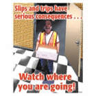 Slips and Trips Have Serious Consequences... Watch Where You are Going Posters