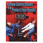 Follow Safety Rules to Protect Your Hands Posters