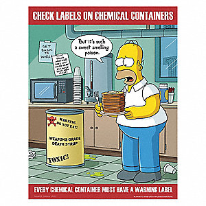 Safetyposter Com Simpsons Safety Poster English 17 Quot X 22