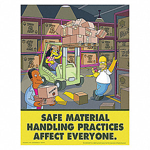 Safetyposter com simpsons safety poster english 17 quot x 22 quot 1 ea