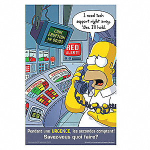 "Simpsons Safety Poster, English, 17"" x 22"", 1 EA"