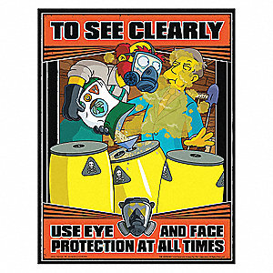 safetyposter com simpsons safety poster to see clearly en   35lh95 s1147   grainger