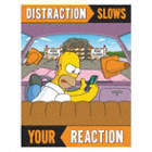Distraction Slows Your Reaction Posters