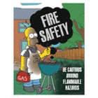 Fire Safety Be Cautious Around Flammable Hazards Posters