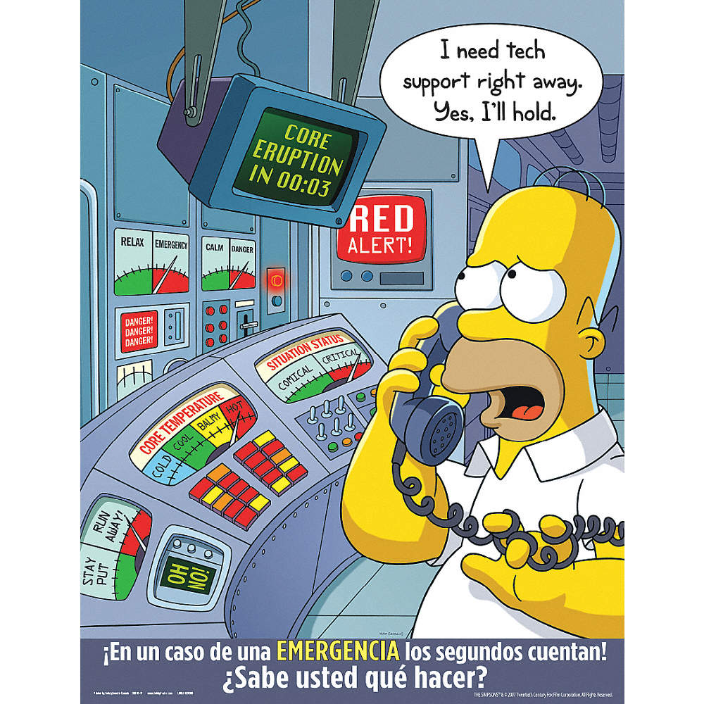 Simpsons Safety Poster, Spanish, 11