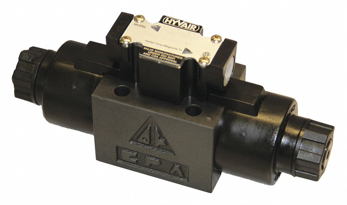 "9.43 in"" x 2.76 in"" x 4.29 in"" Solenoid Operated Hydraulic Directional Valve"