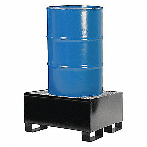 Spill Containment Pallets, Uncovered, 66 gal. Spill Capacity, 600 lb.