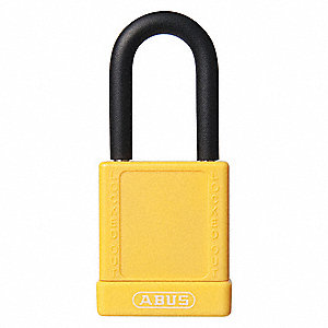 Yellow Lockout Padlock, Different Key Type, Aluminum Body Material