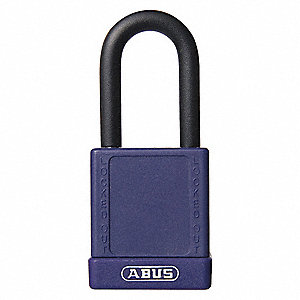 Purple Lockout Padlock, Alike Key Type, Aluminum Body Material