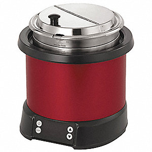 7 qt. Polycarbonate/Aluminum Induction Rethermalizer, Red