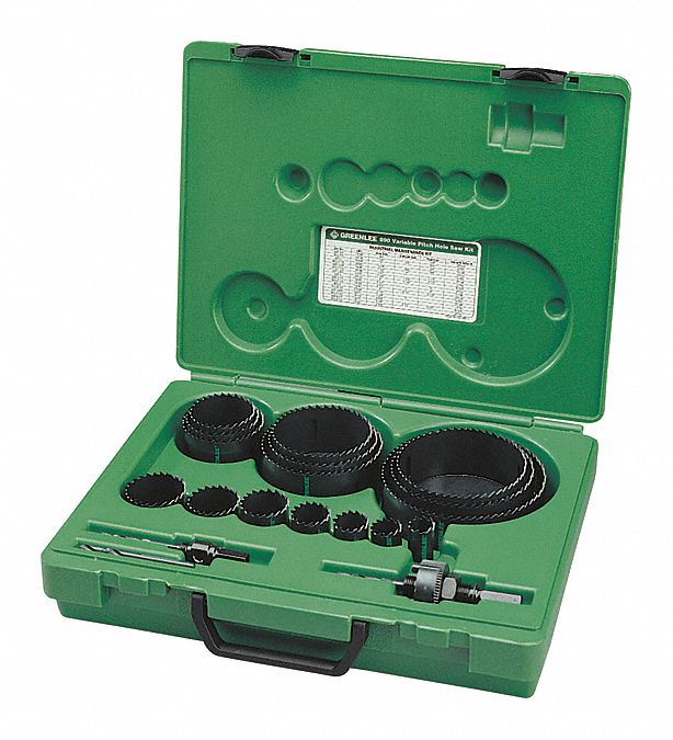 GREENLEE 930 Hole Cutter Kit,9 PC