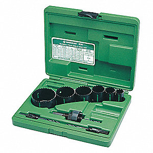 "10-Piece Hole Saw Kit for Metal, Range of Saw Sizes: 7/8"" to 2-1/2"""