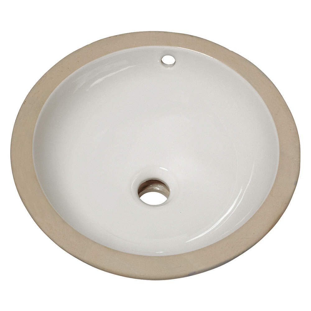 Vitreous China Undermount Bathroom Sink Without Faucet Bowl Size 12 3 4 X