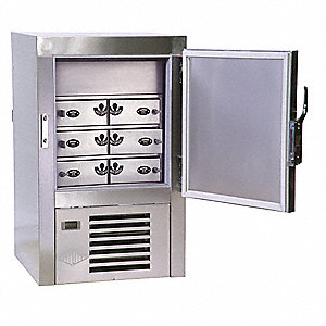 Law Enforcement Evidence Refrigerator, Number of Compartments 6, Stainless Steel, Pass-through