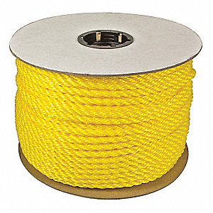"1/2"" dia. Polypropylene All Purpose General Utility Rope, Yellow, 600 ft."