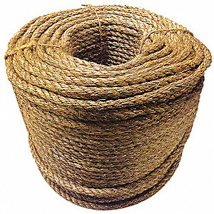 "1/4"" dia. Manila All Purpose General Utility Rope, Manila, 1200 ft. Carton"