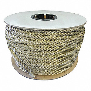 "1-1/4"" dia. Polypropylene All Purpose General Utility Rope, Tan, 600 ft."