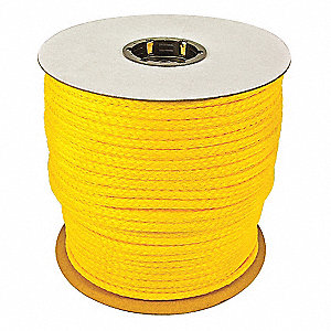 "3/8"" dia. Polypropylene All Purpose General Utility Rope, Yellow, 500 ft."