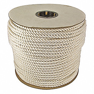 "1/2"" dia. Cotton All Purpose General Utility Rope, White, 300 ft. Reel"