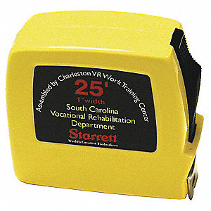 25 ft. Steel SAE/Metric Tape Measure, Black