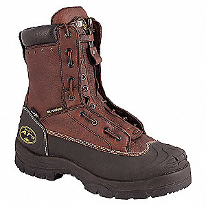 WORKBOOT 8 IN TAN ST/MET 8.5
