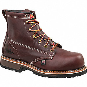 "6""H Men's Work Boots, Composite Toe Type, Leather Upper Material, Brown, Size 10-1/2EE"