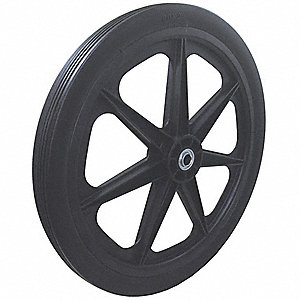 "19-12/25"" Light-Duty Ribbed Tread Solid Wheel, 250 lb. Load Rating"