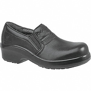 "4""H Women's Work Boots, Composite Toe Type, Leather Upper Material, Black, Size 6-1/2B"