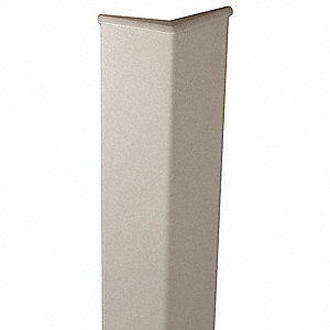 "Corner Guard, Vinyl, 48"" Height, 3"" Width, 0.080"" Thickness, Screw In"