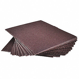 "Fine Aluminum Oxide Sandpaper Sheet, 100 Grit, 11"" L X 9"" W, Backing Weight : J, 1 EA"