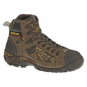 "5""H Men's Boots, Composite Toe Type, Leather/Mesh Upper Material, Camouflage, Size 7-1/2W"