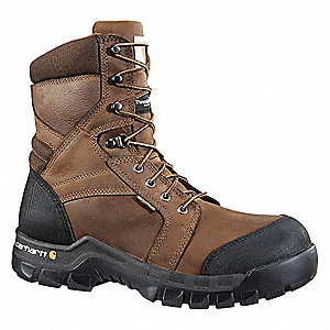"8"" Work Boot,  13,  Medium,  Men's,  Dark Brown,  Composite Toe Type,  1 PR"