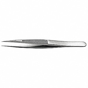 Tweezers,High Precision,4-1/4in,Strong
