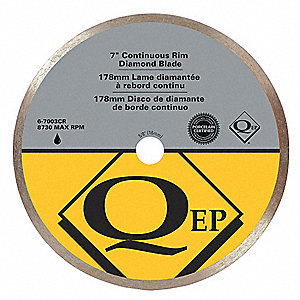 "8"" Wet/Dry Diamond Saw Blade, Continuous Rim Type, Application: Masonry"